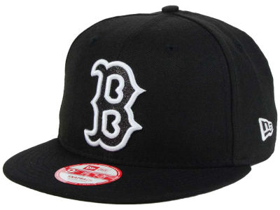 Boston Red Sox New Era MLB Black-Tallic 9FIFTY Snapback Cap