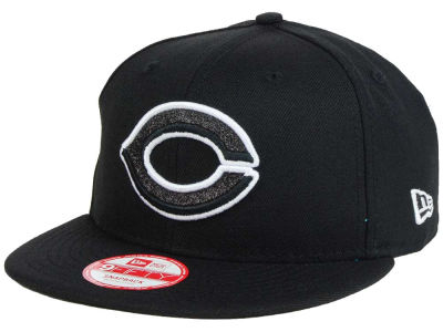 Cincinnati Reds New Era MLB Black-Tallic 9FIFTY Snapback Cap