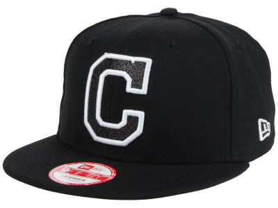 Cleveland Indians New Era MLB Black-Tallic 9FIFTY Snapback Cap
