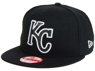 Kansas City Royals New Era MLB Black-Tallic 9FIFTY Snapback Cap