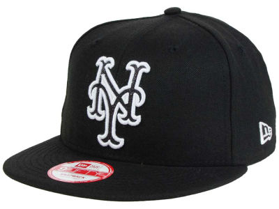 New York Mets New Era MLB Black-Tallic 9FIFTY Snapback Cap