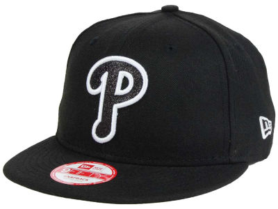Philadelphia Phillies New Era MLB Black-Tallic 9FIFTY Snapback Cap