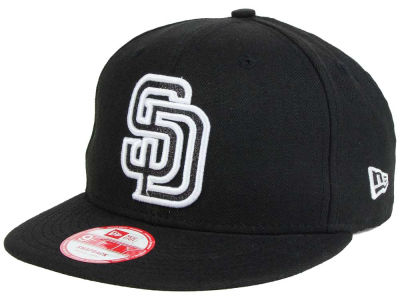 San Diego Padres New Era MLB Black-Tallic 9FIFTY Snapback Cap