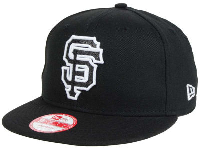 San Francisco Giants New Era MLB Black-Tallic 9FIFTY Snapback Cap