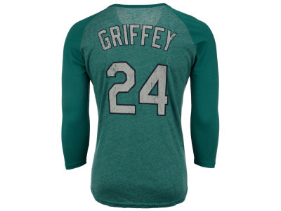 Seattle Mariners Ken Griffey Jr.  MLB Men's Triblend Cooperstown Player Raglan T-Shirt