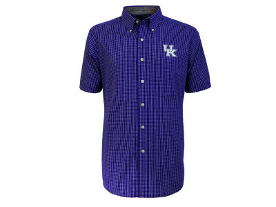Kentucky Wildcats Antigua NCAA Mens League Short Sleeve Button Down