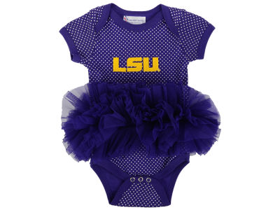 LSU Tigers NCAA Newborn Pin Dot Tutu Creeper