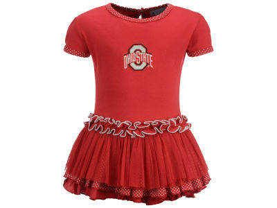 Ohio State Buckeyes NCAA Toddler Girls Pin Dot Tutu Dress