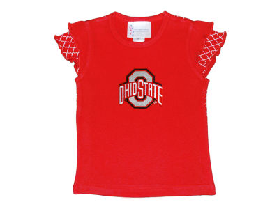 Ohio State Buckeyes NCAA Toddler Girls Lattice T-Shirt and Pants Set