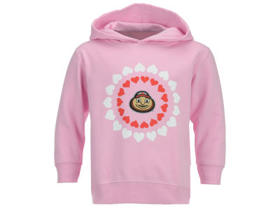 Ohio State Buckeyes NCAA Toddler Girls Heart Circle Hoodie