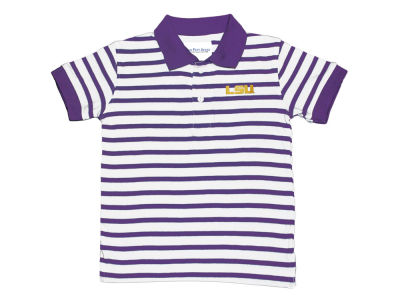 LSU Tigers NCAA Toddler Stripe Golf Polo