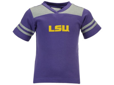 LSU Tigers Atlanta Hosiery NCAA Toddler Sleeve Stripe Football T-Shirt
