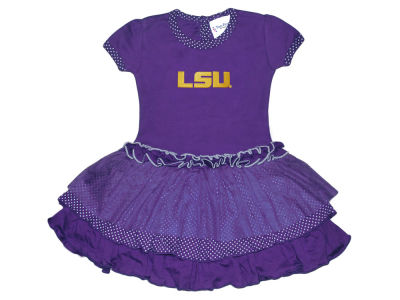 LSU Tigers Atlanta Hosiery NCAA Toddler Girls Pin Dot Tutu Dress