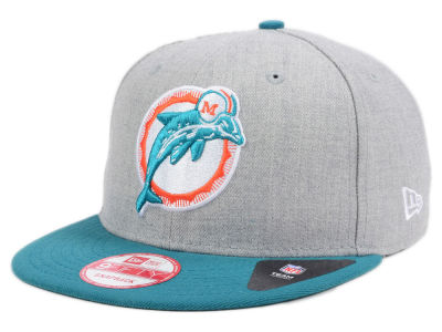 Miami Dolphins New Era NFL Heather 2 Tone 9FIFTY Snapback