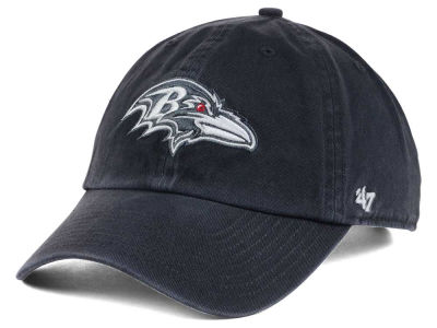 Baltimore Ravens '47 NFL Charcoal White '47 CLEAN UP Cap