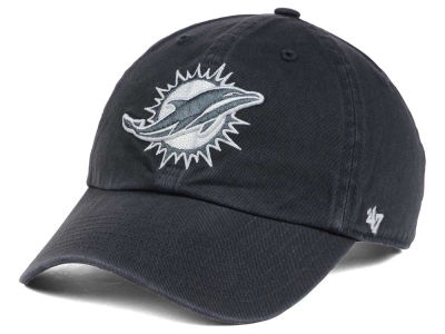 Miami Dolphins '47 NFL Charcoal White '47 CLEAN UP Cap