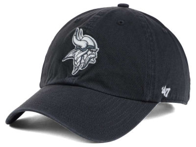 Minnesota Vikings '47 NFL Charcoal White '47 CLEAN UP Cap
