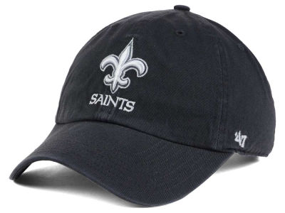 New Orleans Saints '47 NFL Charcoal White '47 CLEAN UP Cap