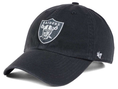 Oakland Raiders '47 NFL Charcoal White '47 CLEAN UP Cap