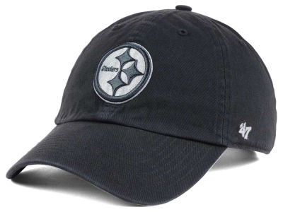 Pittsburgh Steelers '47 NFL Charcoal White '47 CLEAN UP Cap