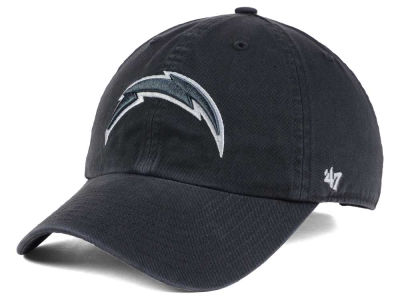 Los Angeles Chargers '47 NFL Charcoal White '47 CLEAN UP Cap