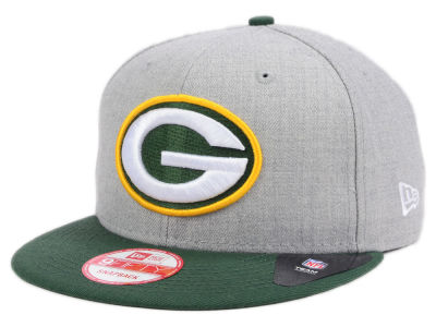 Green Bay Packers New Era NFL Kids Heather 2 Tone 9FIFTY Snapback Cap
