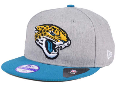 Jacksonville Jaguars New Era NFL Kids Heather 2 Tone 9FIFTY Snapback Cap