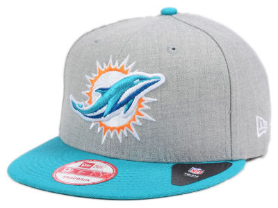 Miami Dolphins New Era NFL Kids Heather 2 Tone 9FIFTY Snapback Cap