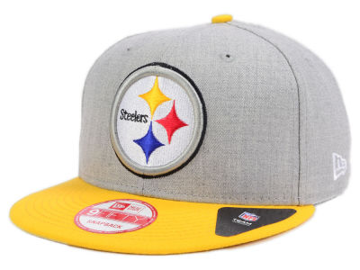 Pittsburgh Steelers New Era NFL Kids Heather 2 Tone 9FIFTY Snapback Cap