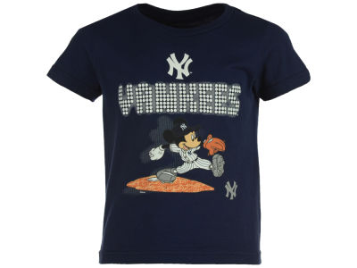 New York Yankees MLB Toddler Mickey Lights T-Shirt