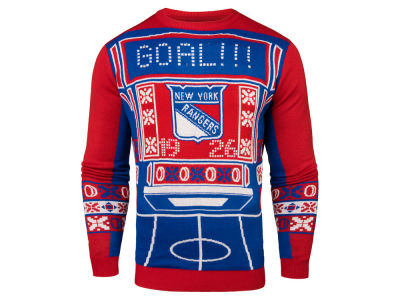 New York Rangers NHL Men's Light Up Ugly Sweater