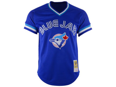 Toronto Blue Jays Roberto Alomar Mitchell and Ness MLB Men's Authentic Mesh Batting Practice V-Neck Jersey