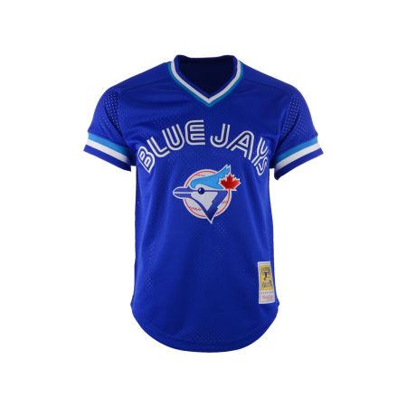 Toronto Blue Jays Roberto Alomar Mitchell & Ness MLB Men's Authentic Mesh Batting Practice V-Neck Jersey