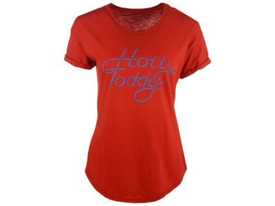 Ole Miss Rebels NCAA Women's Retro Roll Up Sleeve Slub T-Shirt