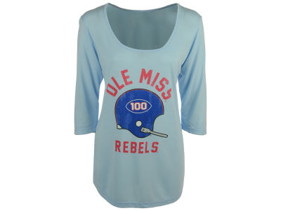 Ole Miss Rebels NCAA Women's Kat Mock Twist 3/4 Sleeve T-Shirt