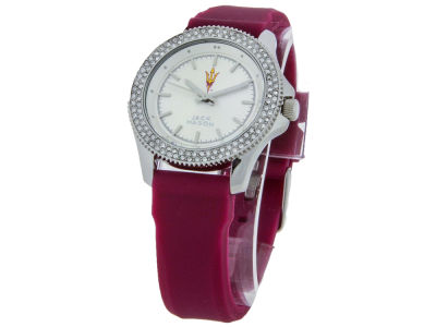 Arizona State Sun Devils Ladies Glitz Silicone Strap Watch