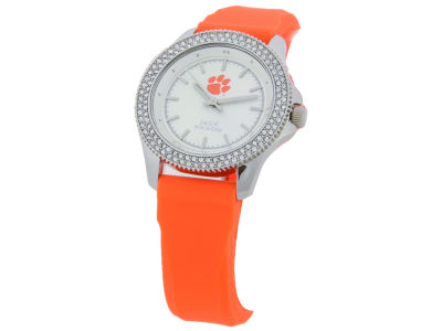 Clemson Tigers Ladies Glitz Silicone Strap Watch