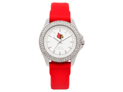 Louisville Cardinals Ladies Glitz Silicone Strap Watch