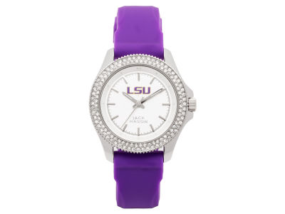 LSU Tigers Jack Mason Ladies Glitz Silicone Strap Watch