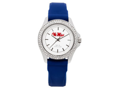 Ole Miss Rebels Jack Mason Ladies Glitz Silicone Strap Watch