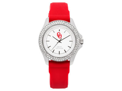 Oklahoma Sooners Ladies Glitz Silicone Strap Watch