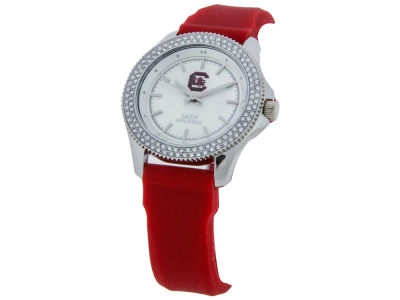 South Carolina Gamecocks Jack Mason Ladies Glitz Silicone Strap Watch