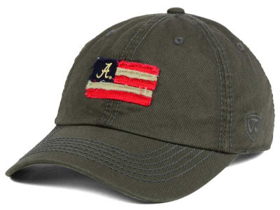 Alabama Crimson Tide Top of the World NCAA Flag Adjustable Cap