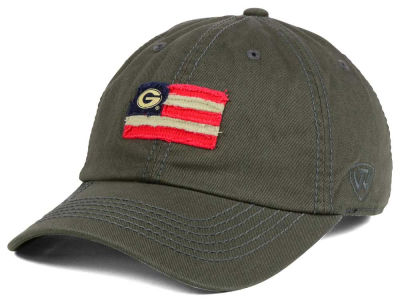 Georgia Bulldogs Top of the World NCAA Flag Adjustable Cap