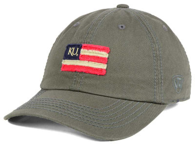 Kansas Jayhawks Top of the World NCAA Flag Adjustable Cap