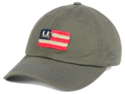 Miami Hurricanes Top of the World NCAA Flag Adjustable Cap