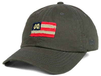 Mississippi State Bulldogs Top of the World NCAA Flag Adjustable Cap