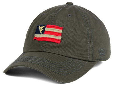 West Virginia Mountaineers Top of the World NCAA Flag Adjustable Cap