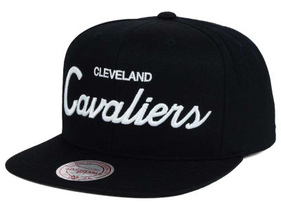 Cleveland Cavaliers Mitchell & Ness NBA White Script Snapback Cap