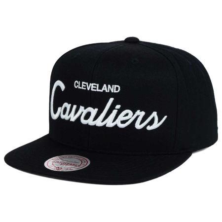 Cleveland Cavaliers Mitchell & Ness NBA White Script Snapback Cap